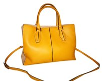 Tod's Italian Leather Satchel in Yellow