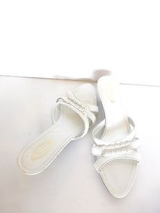 Tod's Tods Leather Strappy White Mules