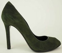 Tom Ford Suede Peep Toe Green Pumps