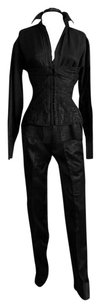 Tom Ford Kate's Rare & Iconic Tom Ford Gucci SS 2001 Silk Corseted Blouse & Tuxedo Pants!