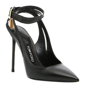 Tom Ford Leather Ankle-lock Black Pumps
