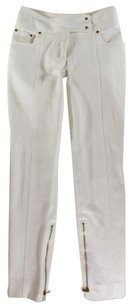 Tom Ford Cream Studded Ankle Skinny Jeans