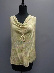 Tommy Bahama Drape Neck Front Tie Sm9003 Top Green Pink Blue