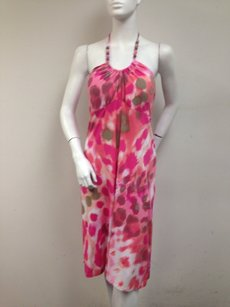 Tommy Bahama short dress Pink Alley Spots Multi Padded Cup Halter Neck Short Maxi on Tradesy