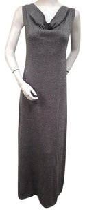 Gray Maxi Dress by Tommy Bahama Adelaide Cowl Neck Silver Silk Blend Maxi Sweater 46