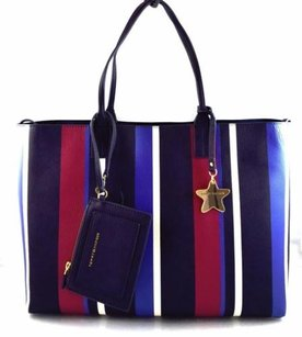 Tommy Hilfiger Red White Tote in Blue
