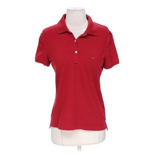 Tommy Hilfiger Polo Shirt Button Down Shirt Red