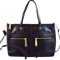 Tommy Hilfiger Leather Satchel in Black