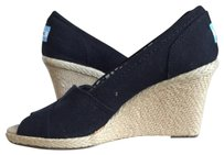 TOMS Wedge Canvas Black Wedges