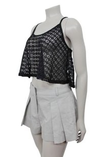 Topshop Silver Pleated Shorts grey