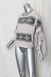 Topshop Knitted Navaho Tassel Knit South Fringe Poncho Sweater