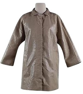 Topshop Womens Textured Long Sleeve Blend Rain Raincoat