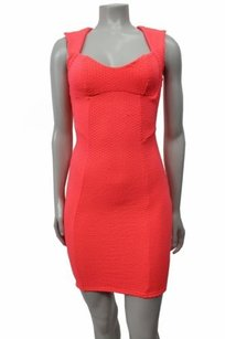 Topshop Textured Bodycon Back Dress
