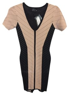 Torn by Ronny Kobo short dress Pink and Black on Tradesy