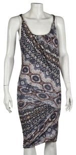 Torn by Ronny Kobo Womens Gray Dress