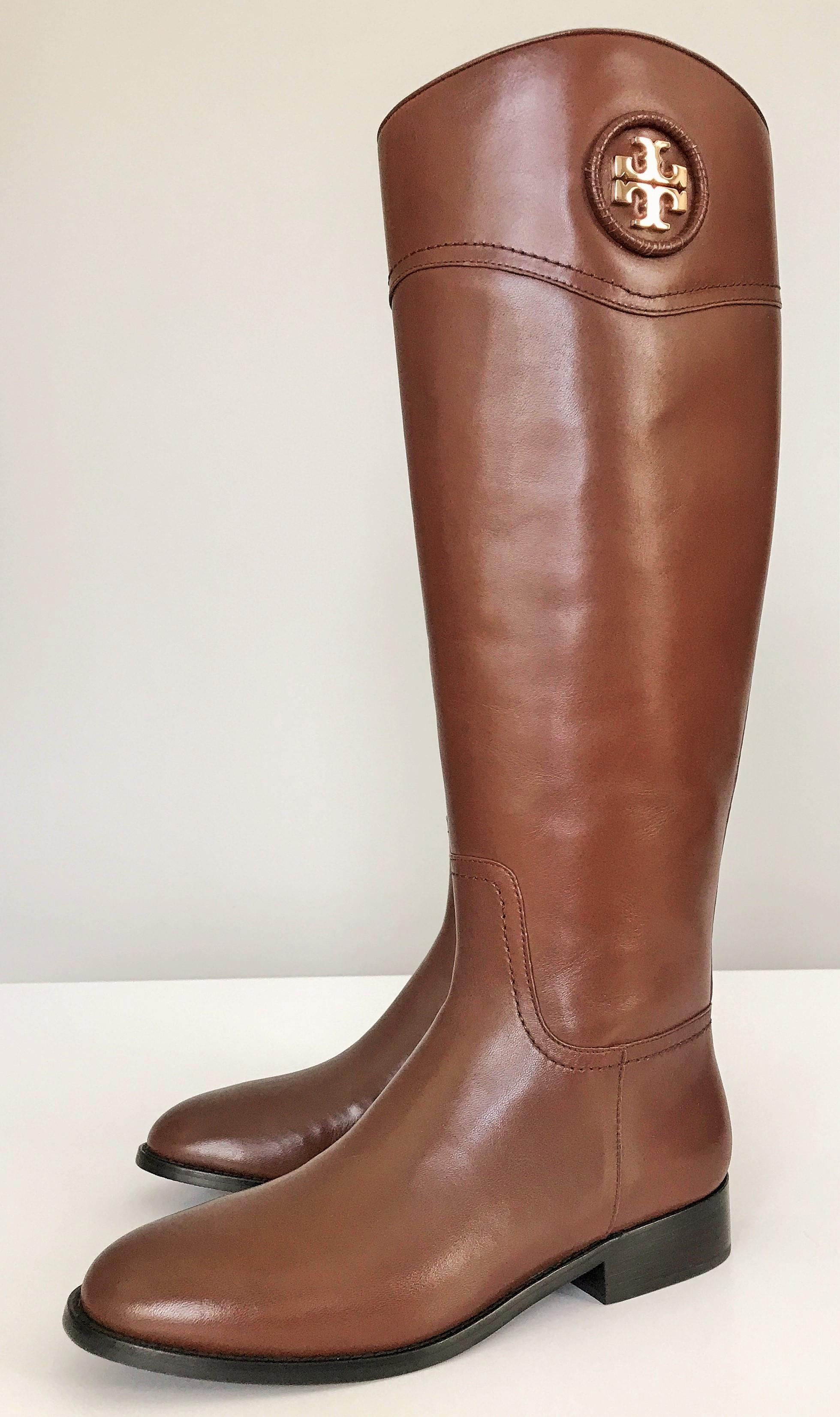 2bcfd1873bdf ... Men s Women s-Tory Burch Burch Burch Almond Gold Ashlynn Riding  Boots Booties ...