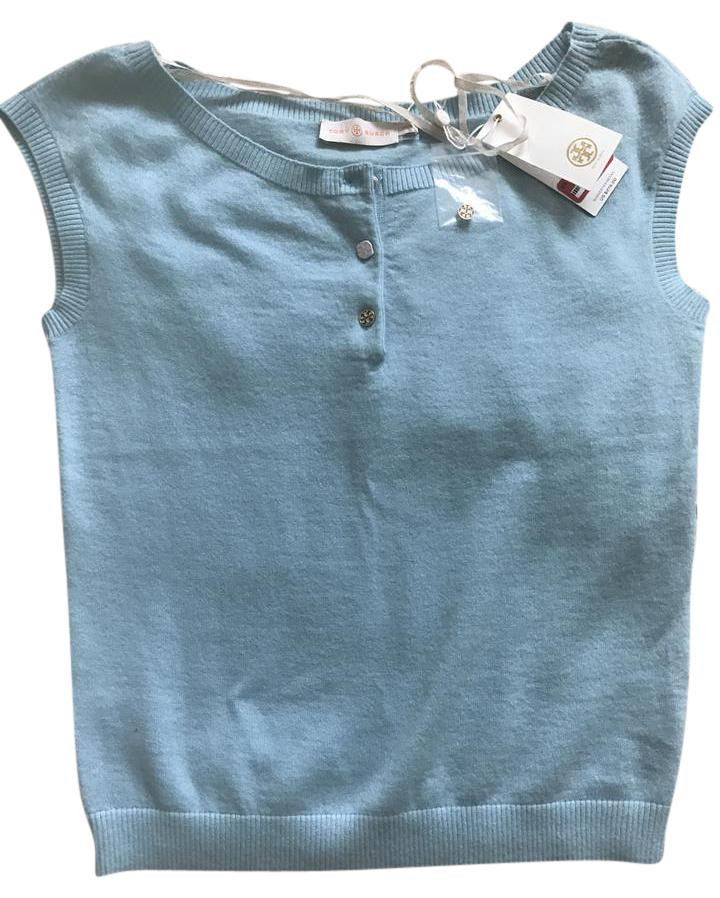 Tory Burch Baby Blue Crete Sydney Sweater Pullover Size 0 Xs