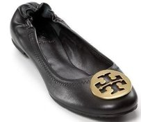 Tory Burch Reva Leather Black Flats