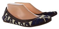 Tory Burch Womens Brown Multi-Color Flats