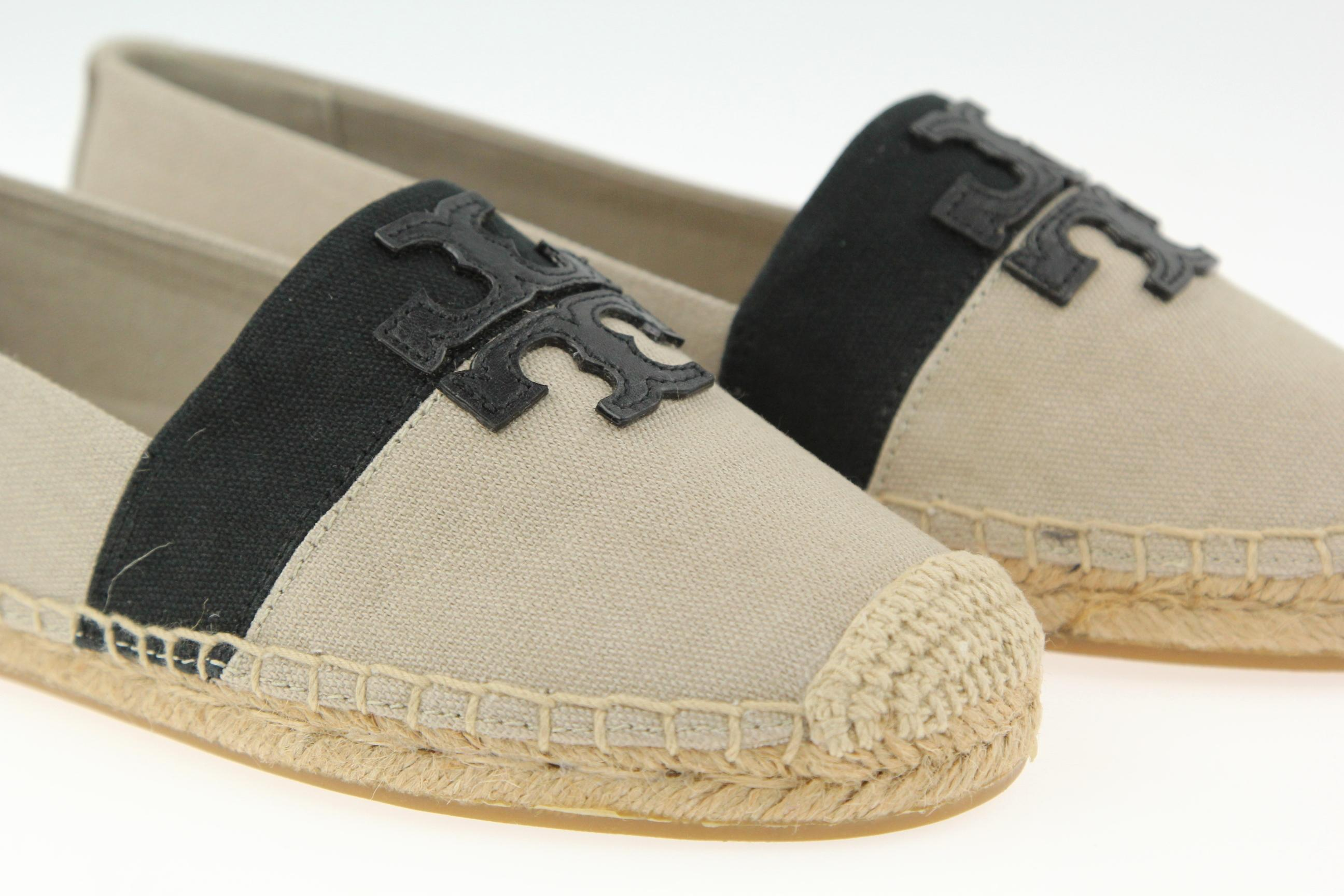 tory burch beige weston toile toile toile espadrilles apparteHommes ts ordinaires (taille us 7 m, b) 23fc4c
