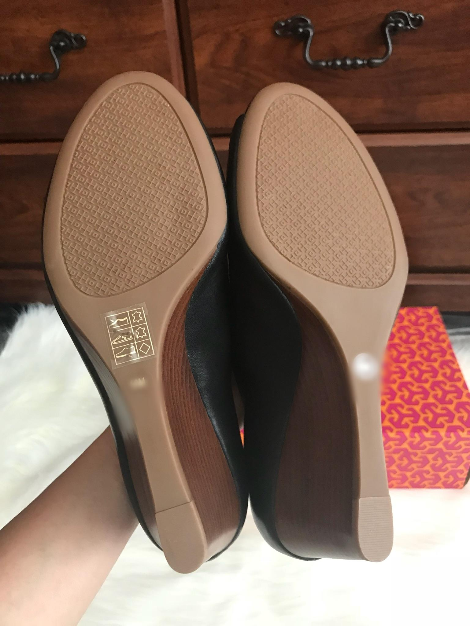 tory burch Noir  m 2 & # 039; lowell 2 m & # 039; 65 mm. taille 10 coins ordinaires (m, b) 1a1109