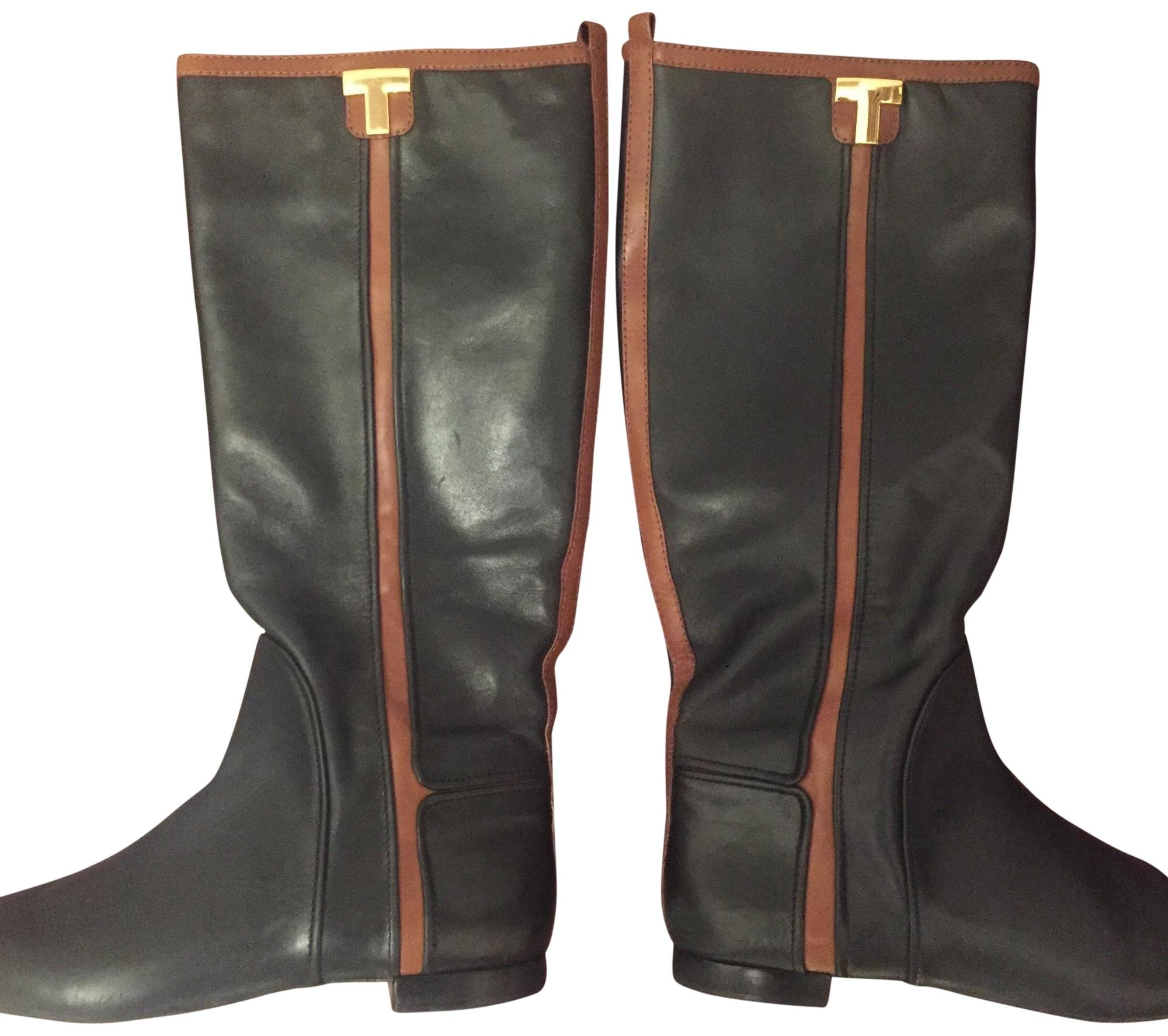 9ae2fbd6148b buy tory burch brown and black riding boots 1c5cd a20af