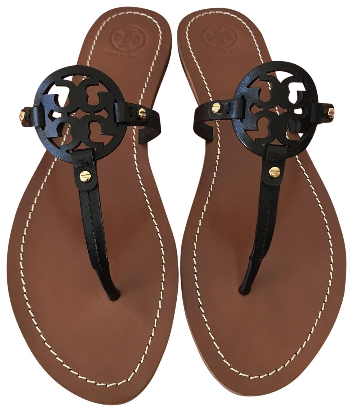 467794fef8f7 Tory Burch Black Mini Miller Flat Sandals Sandals Sandals Size US 9 Regular  (M