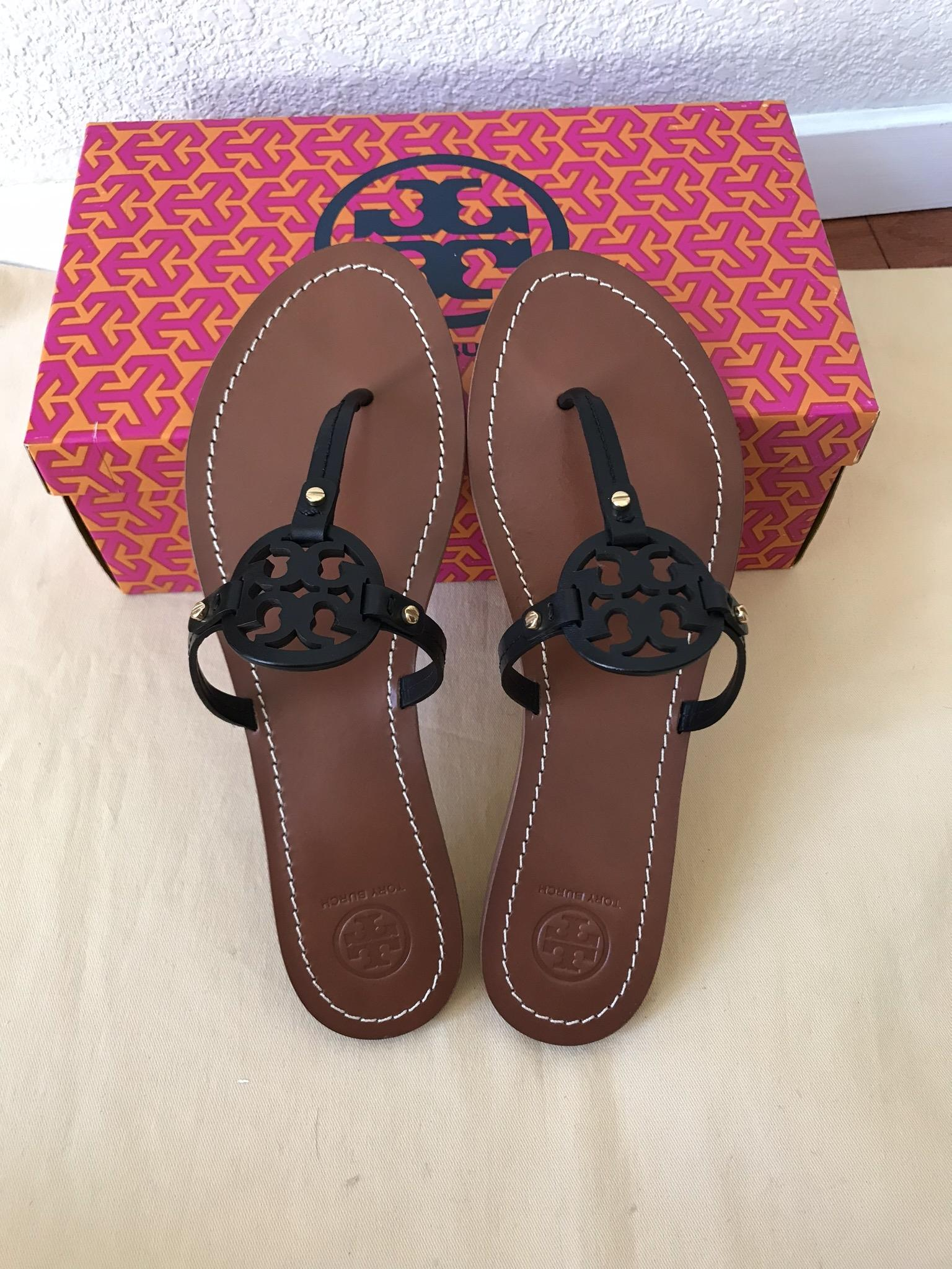 14fa86e77611 ... Tory Burch Black Mini Miller Flat Sandals Sandals Sandals Size US 9  Regular (M