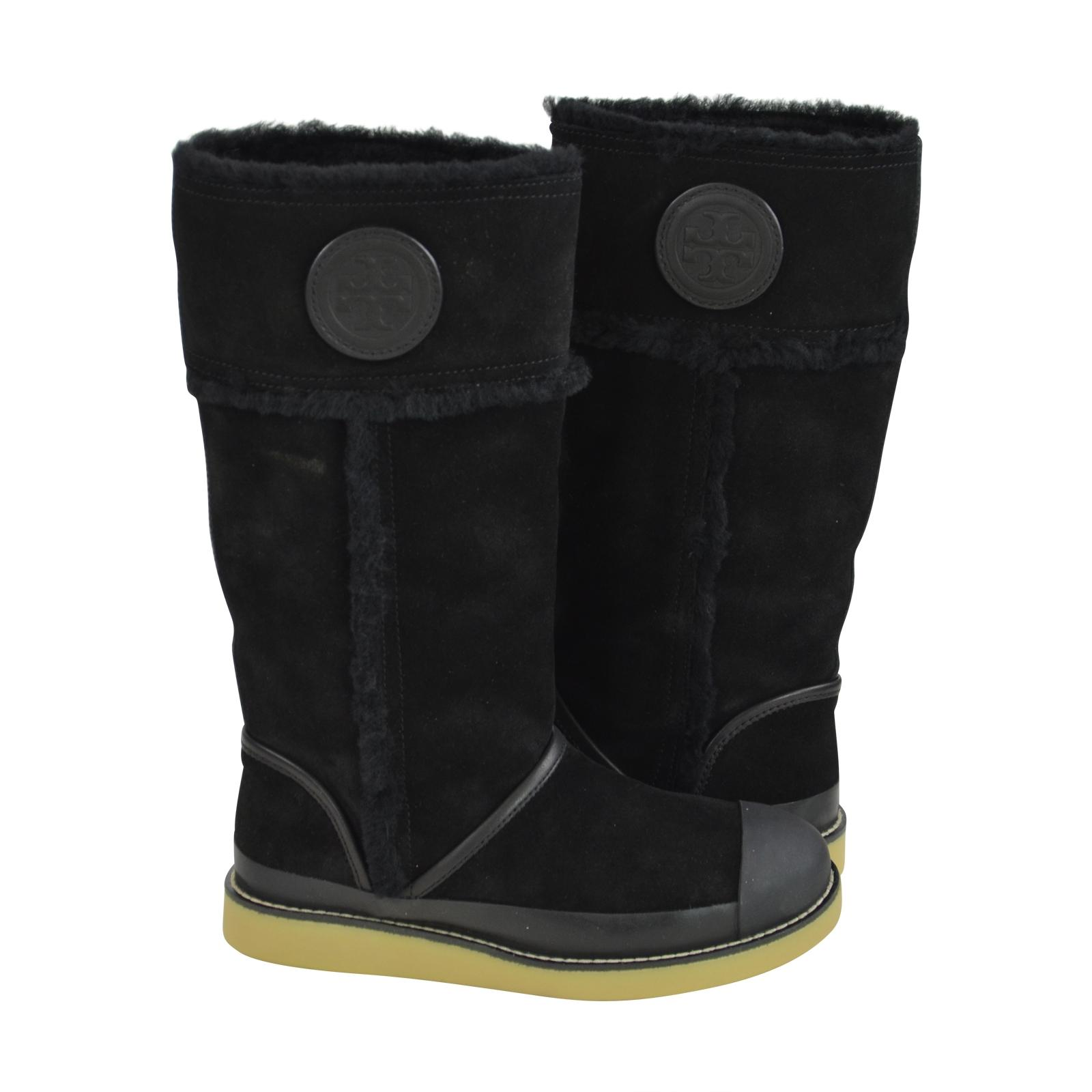 d207bed9bd9a ... Tory Burch Burch Burch Black Nadine Mid Shaft Suede Boots Booties Size  US 6 Regular ...