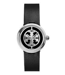 Tory Burch black silver reva watches