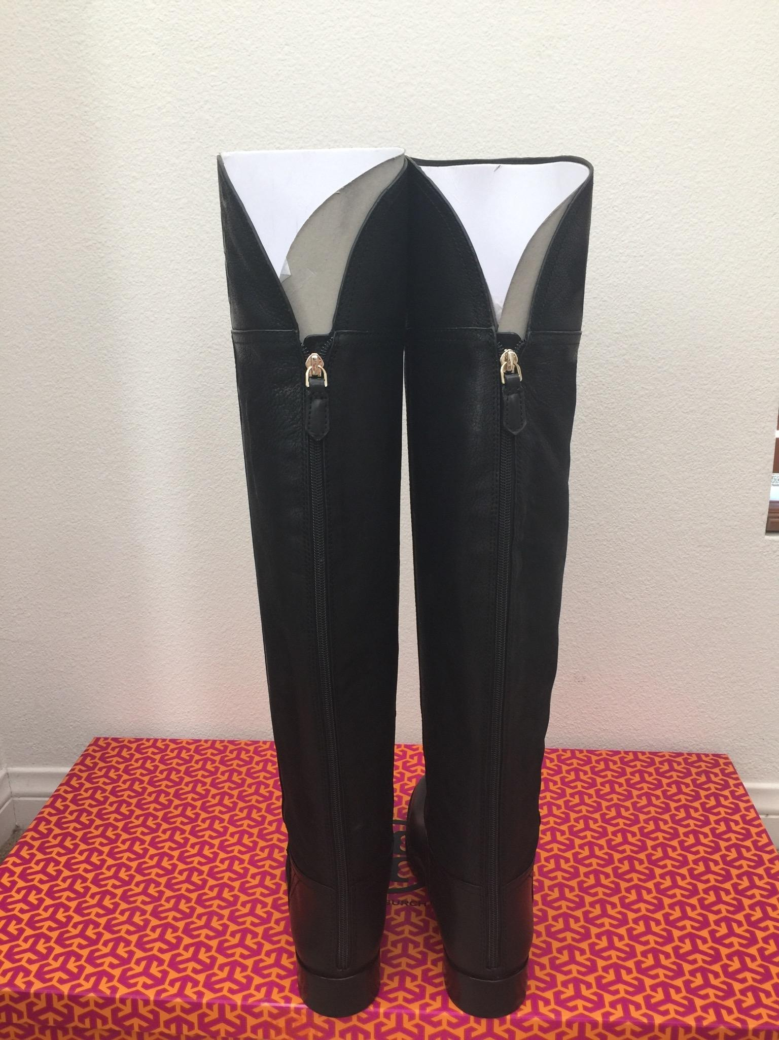 5a29cfafc958 ... Tory Burch Black Black Black Simone Over The Knee 35mm Vintage Buffalo  Boots Booties Size ...