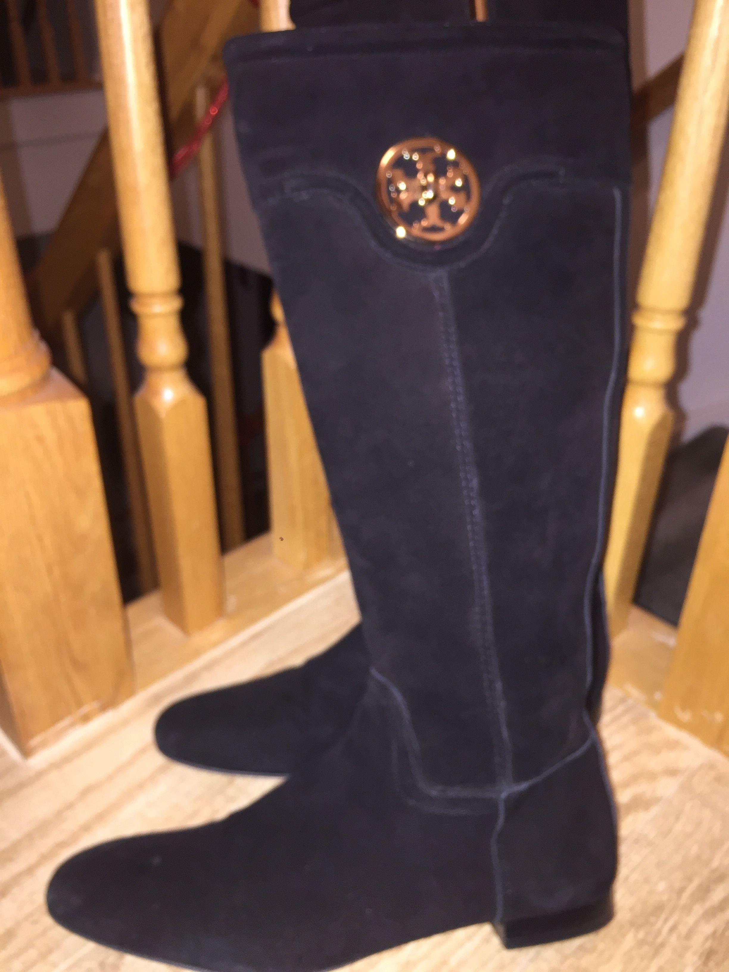 3a30bfc4e5e0 ... promo code for tory burch black suede selma riding boots booties size  us 9 regular m b