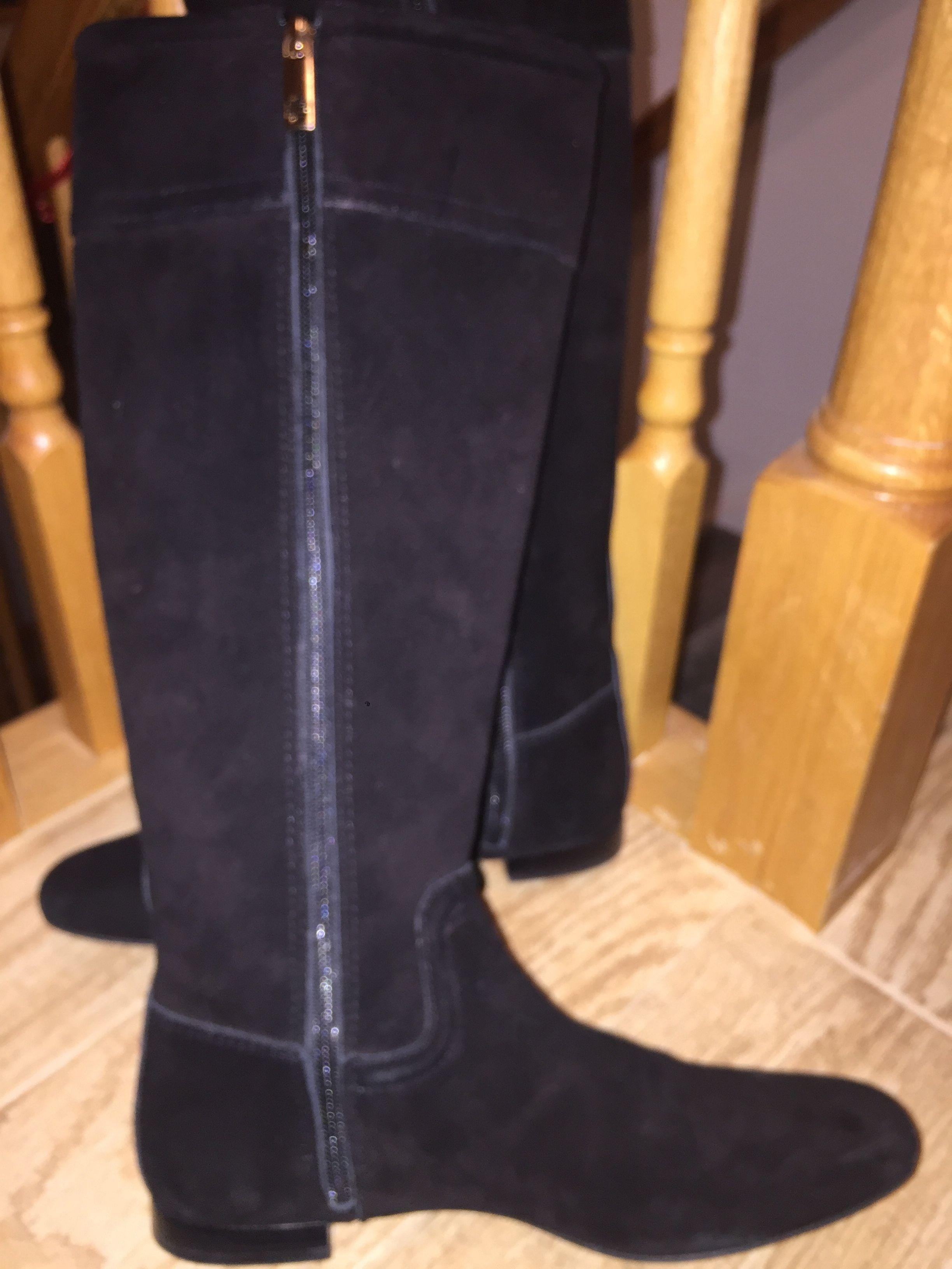 247f9f84f1daef ... promo code for tory burch black suede selma riding boots booties size  us 9 regular m b