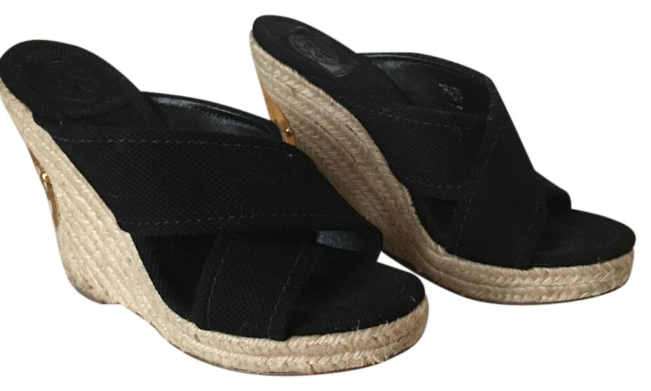 Wedge sandals with cork soles are warm weather footwear essentials. Year-round, other styles of wedges will give you the same lift with more comfort and arch support than high heels do. Choose from chic black and white colourways or add some shimmer with a silver pair.