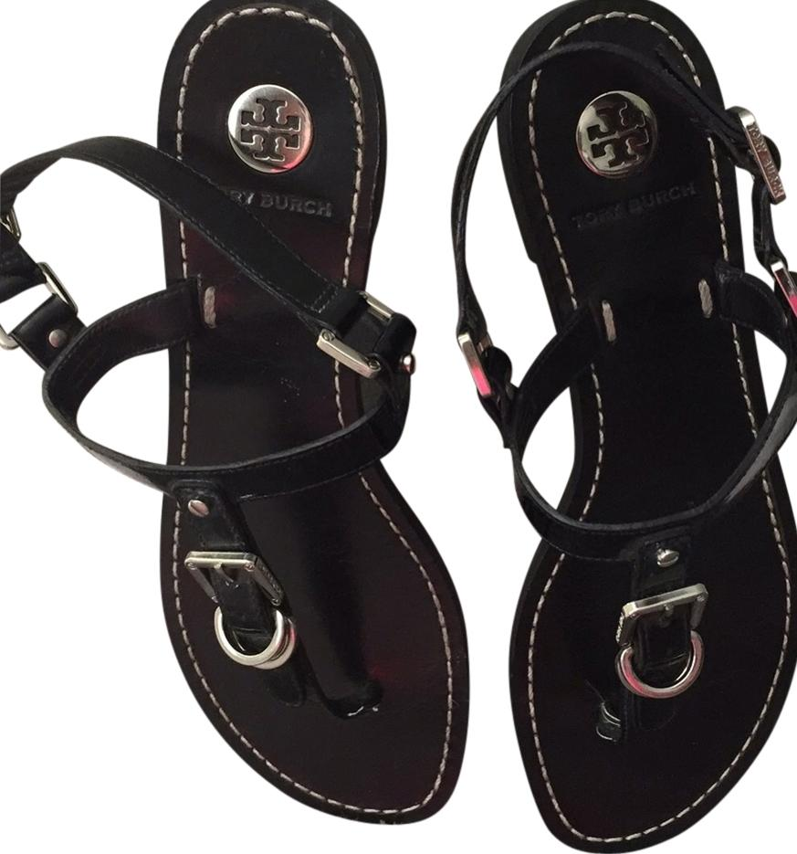 7a7be60c547f Tory Burch Black with Silver Buckles Sandals Size US US US 7 Regular ...