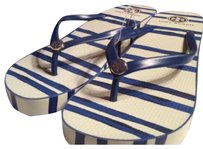 Tory Burch Blue/white Sandals