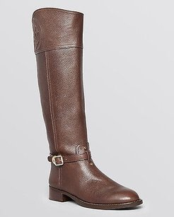 Tory Burch Coconut Leather Brown Boots