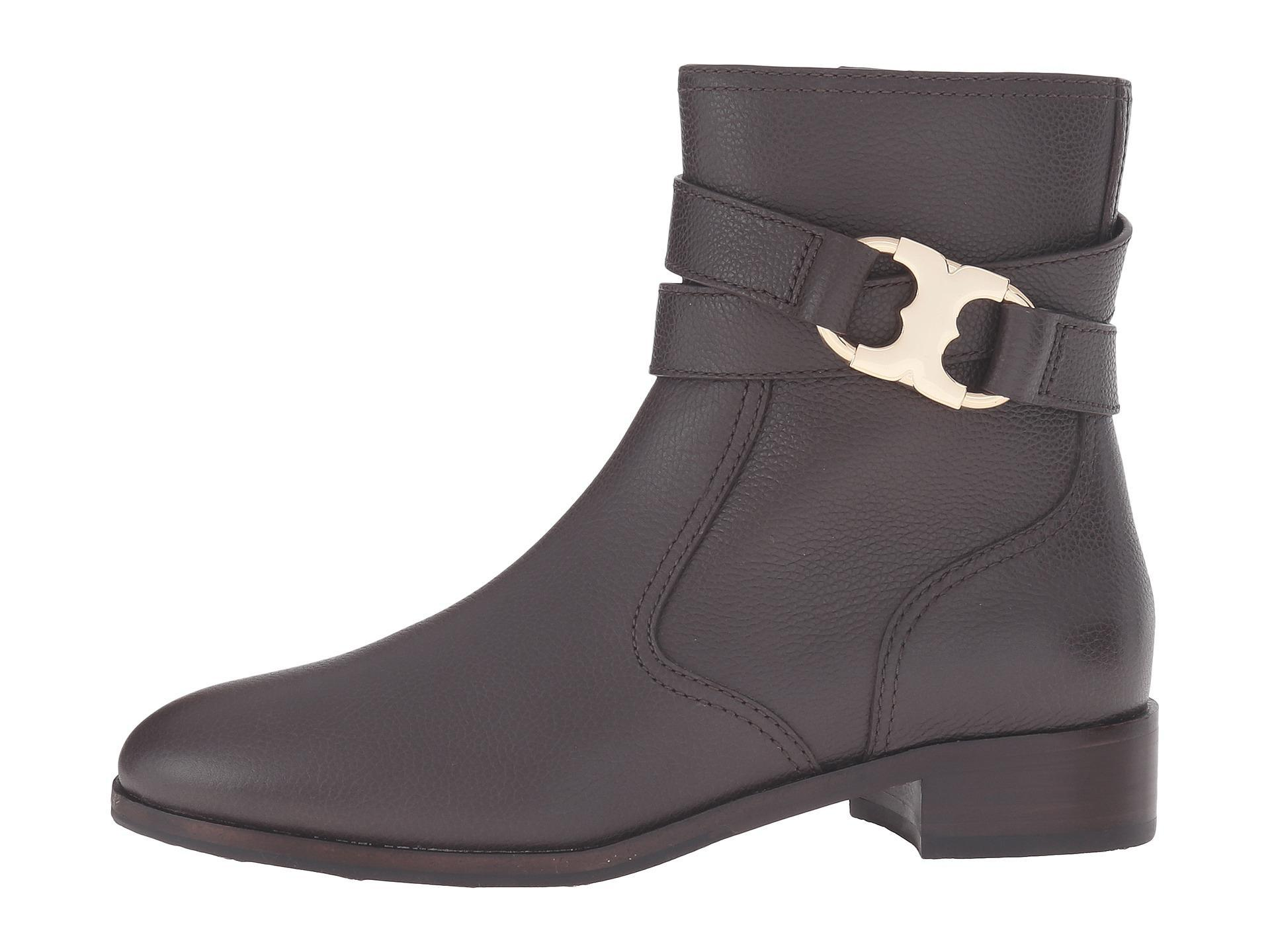 d8f05a984443 Tory Burch Brown Gemini Link Link Link Coconut Leather Gold Full Zip Ankle  Boots Booties Size US 11 Regular (M