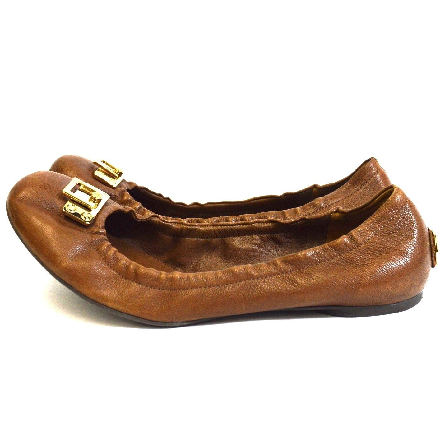 3e6c582b742d authentic lyst tory burch lowell 2 snake smbossed ballet flats in brown  11fcf 0e1ea  amazon tory burch brown heel logo flats size us 9 regular m b  tradesy ...