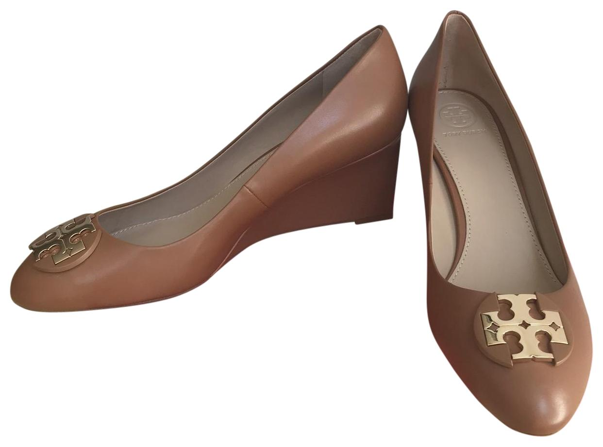 15afce29a0b Tory Burch Brown Brown Brown   Luna   65mm Calf Leather Pumps Wedges Size US  10.5 ...