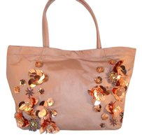 Tory Burch Flower Tote in Soft pink/blush