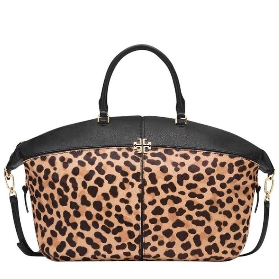 Tory Burch Animal Print Calf Hair Leather Large Tote in Leopard black ...