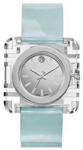 Tory Burch IZZIE STAINLESS STEEL AND PATENT-LEATHER WATCH TRB3004