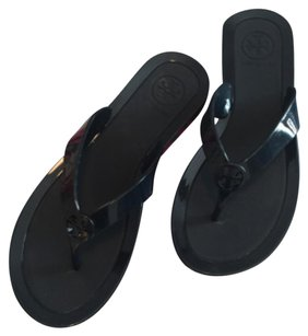 Tory Burch Jelly Flip Flops Tory Navy Sandals
