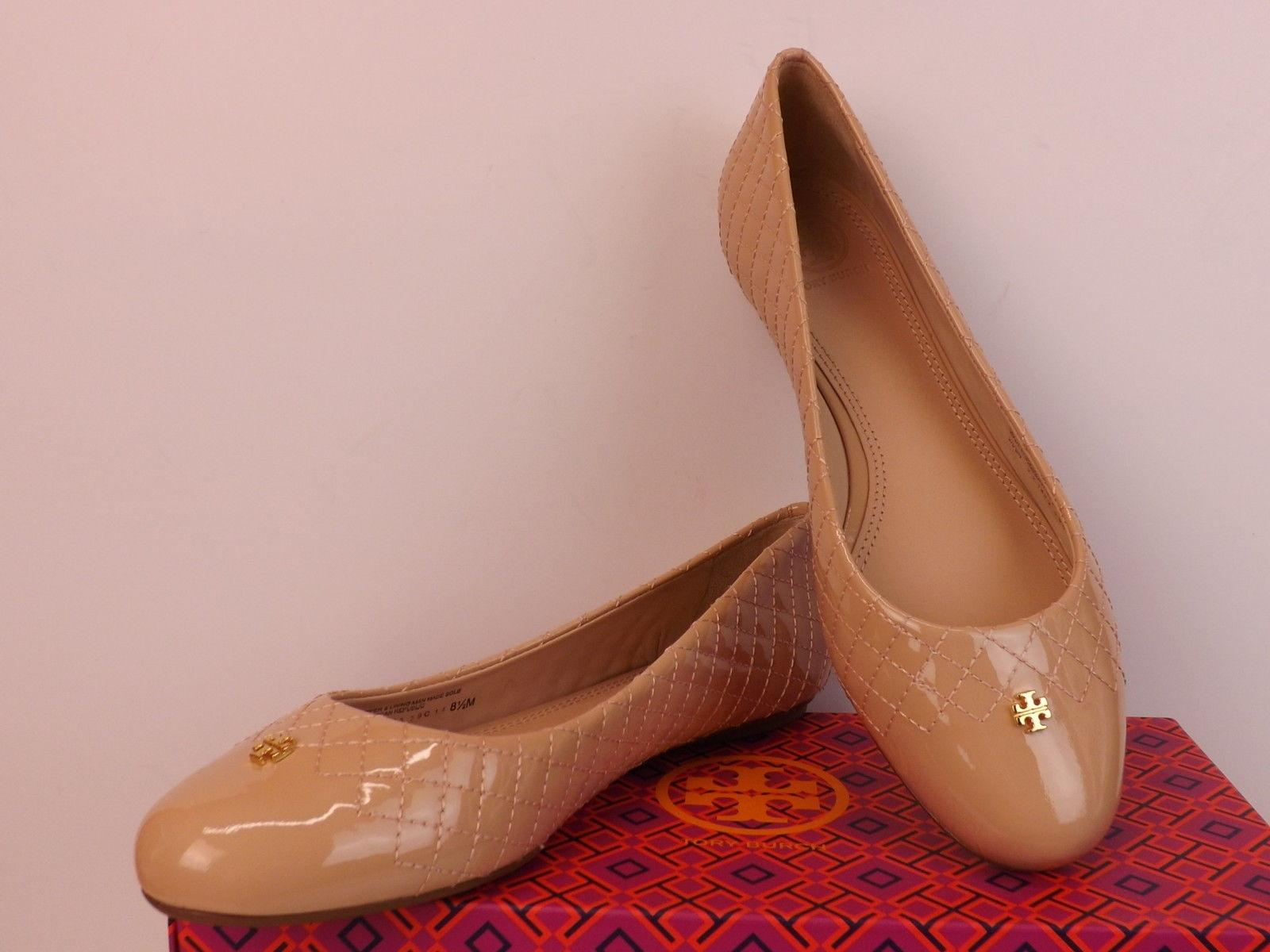 Tory Burch Light Oak Kent Quilted Patent Leather Gold Reva 8 Flats Size EU  38 (Approx. US 8) Regular (M, B) - Tradesy