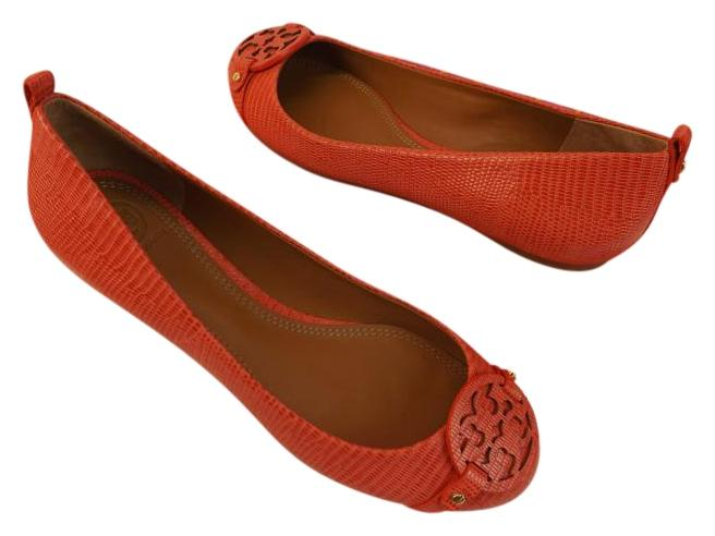 fd311a998800 Tory Burch Melon Lizard Print Mini Miller Miller Miller Leather Big Reva  Ballet Flats Size US 9 Regular (M