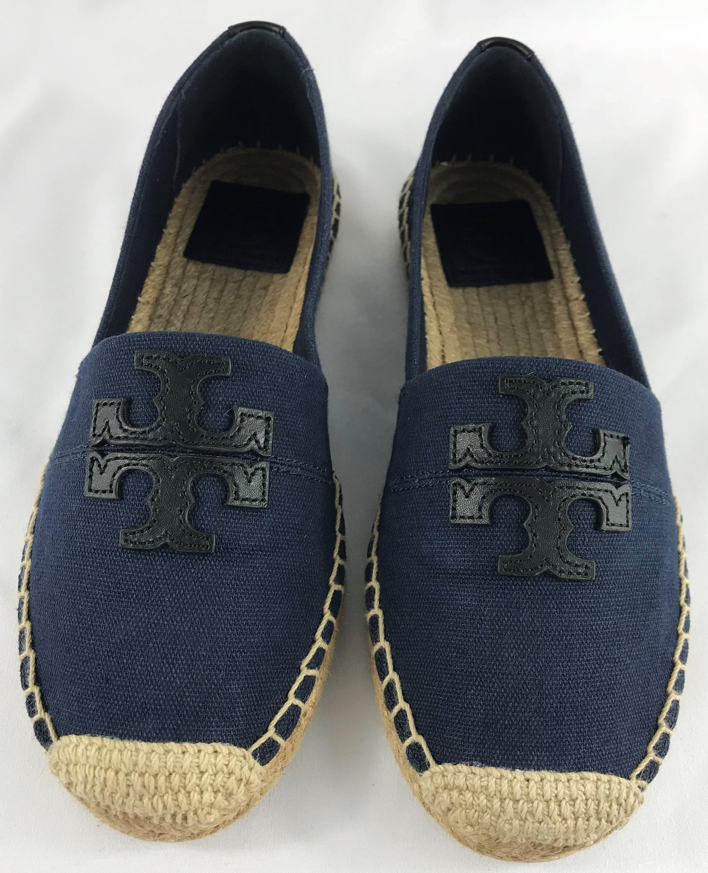 623a78a9291 Tory Burch Navy Black Weston Canvas Espadrilles Espadrilles ...