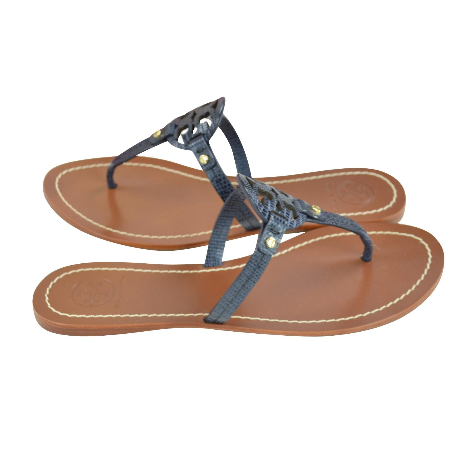 6acddc42d209f5 ... Tory Burch Burch Burch Navy Mini Miller Tejust Print Sandals Size US  6.5 Regular (M ...