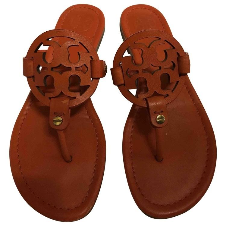 4f6a1c675 Tory Burch Orange Orange Orange Miller Flip Flop Sandals Size US 5 Regular ( M