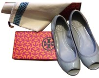 Tory Burch Patent Leather Grey Gray Mint Julep Flats